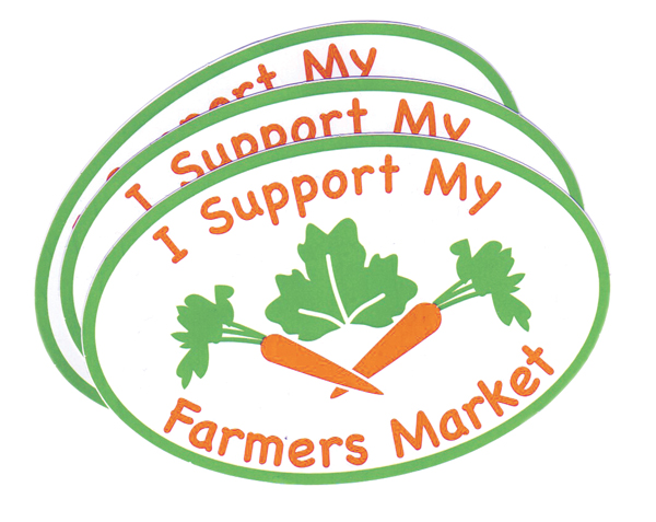 I Support My Farmers Market sticker