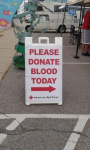 Donate blood sign