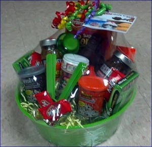 Ice cream gift basket